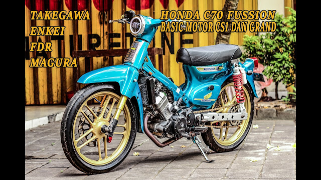 Honda CS-1 Modifikasi C70 dengan Racing Look - Sport Look