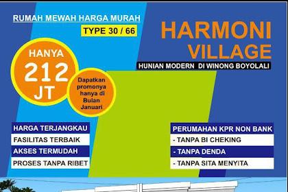 Perumahan Syariah Harmoni Village Boyolali