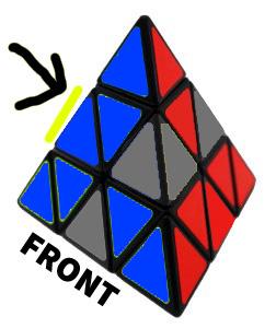 penyelesaian lapisan pertama pyraminx 4