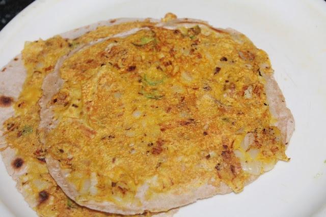 Vegetarian Egg Paratha Recipe