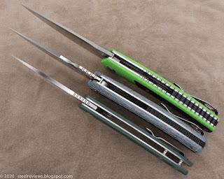 TwoSun TS127, TS81-G10 and CH Knives CH3530-G10