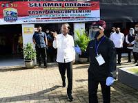 Presiden Jokowi Tinjau Pasar Pelayanan Publik di Banyuwangi