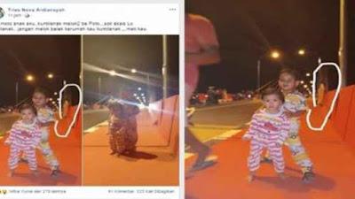 Viral Terpotret Sosok Diduga Kuntilanak Berdiri di Pinggir Jembatan