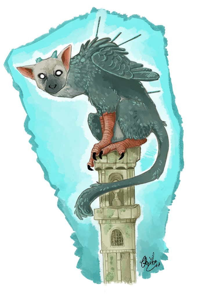 Trico fanart, The Last Guardian