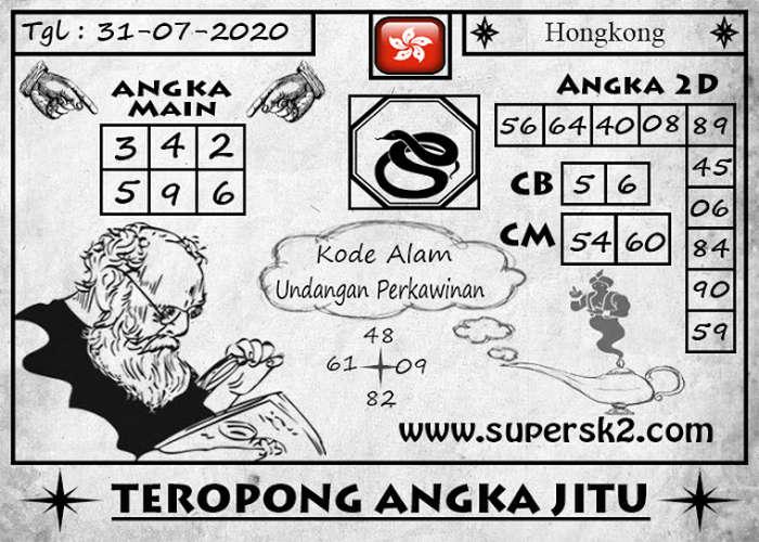 Kode syair Hongkong Jumat 31 Juli 2020 254