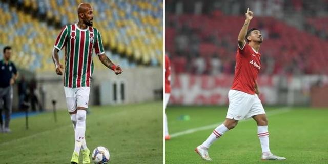 Jogador do Fluminense tem acerto com o Inter I Montagem sobre fotos de divulgação