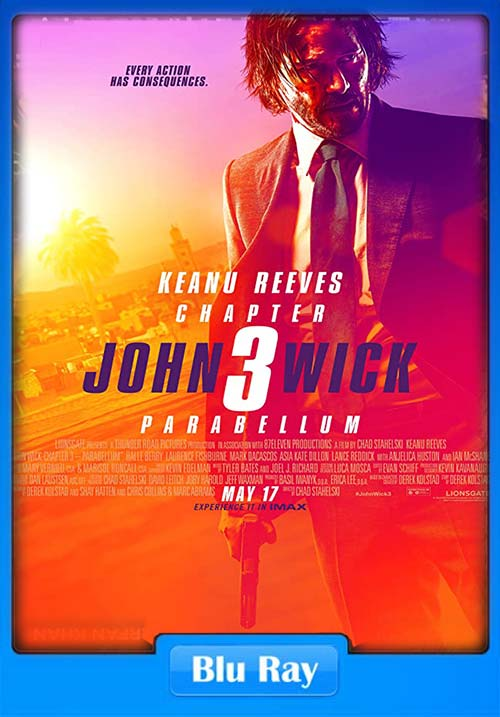 John Wick 3 2019 Hindi Telugu Tamil English BluRay 720p ESub x264 | 480p 300MB | 100MB HEVC