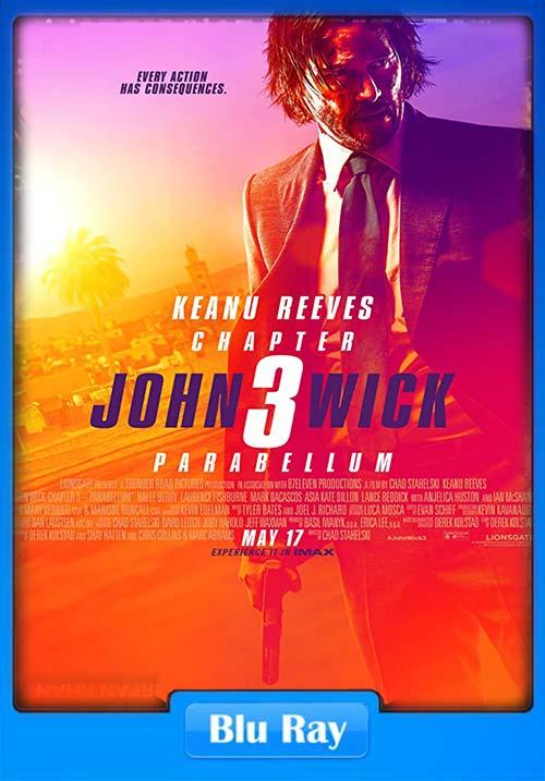 John Wick 3 2019 Hindi Telugu Tamil English BluRay 720p ESub x264 | 480p 300MB | 100MB HEVC