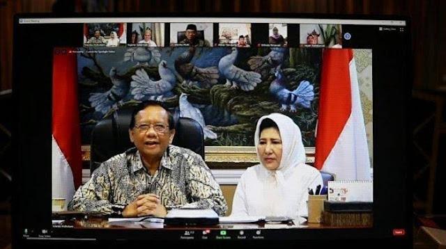 Dapat Meme dari Menteri Luhut, Mahfud MD: Ibaratkan Corona seperti Istri