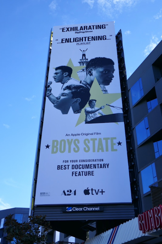 Boys State documentary FYC billboard