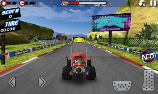 Screenshots of the Monster truck 4x4 stunt racer for Android tablet, phone.