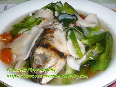Dinengdeng, Labong, Saluyot at Sigarillas Dish