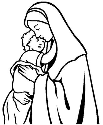 Gifs Y Fondos Paz Enla Tormenta Imágenes Virgen María Para Colorear