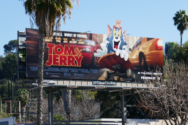 Tom and Jerry extension cut-out billboard