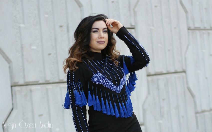 Püsküllü Elbise-alışveriş-moda blogu-Fashion bloggers-Balmain
