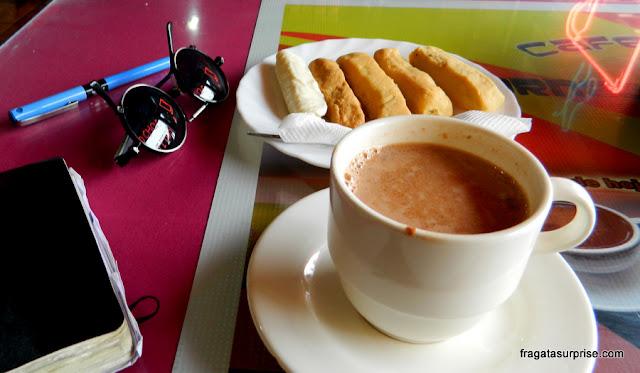 Café da manhã típico do Equador