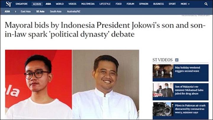 Media Asing Soroti 'Dinasti Politik' Putra Jokowi di Pilkada, Sebut Saingannya Orang Tidak Jelas
