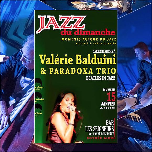 Hommage jazz aux Beatles par Valérie Balduini et Paradoxa Trio