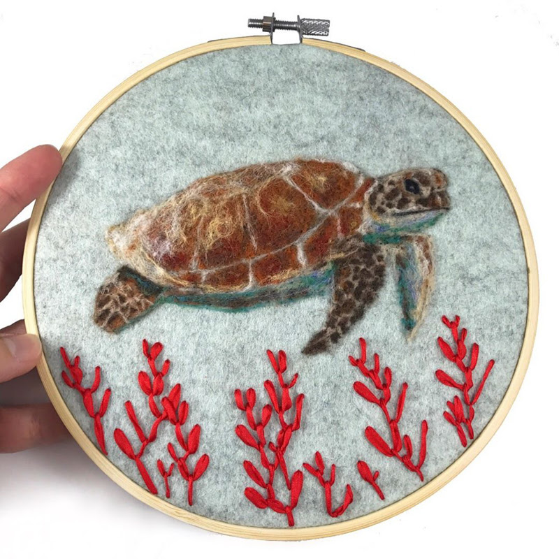Fiber Art by Lauren Beach from Florida United States.