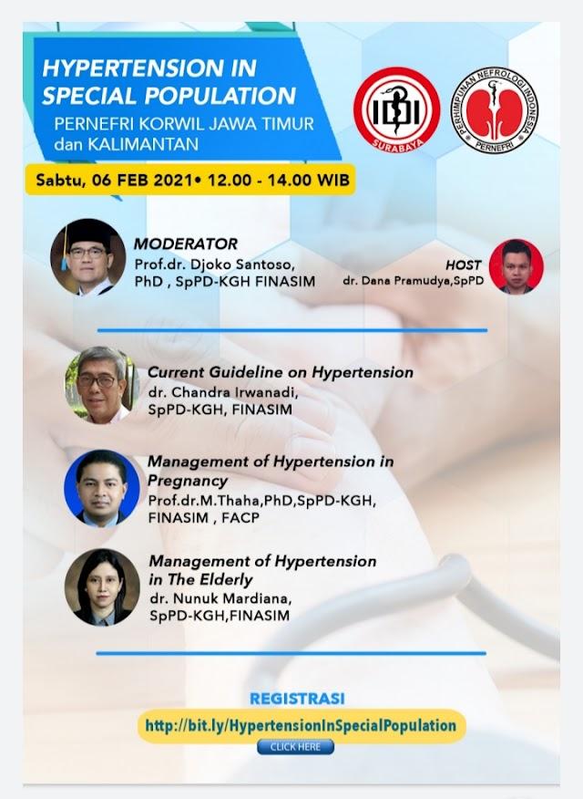 Webinar  Hypertension in Special Population