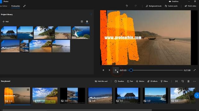 عمل فيديو إحترافي بالصور و الصوت دون تحميل برامج مونتاج