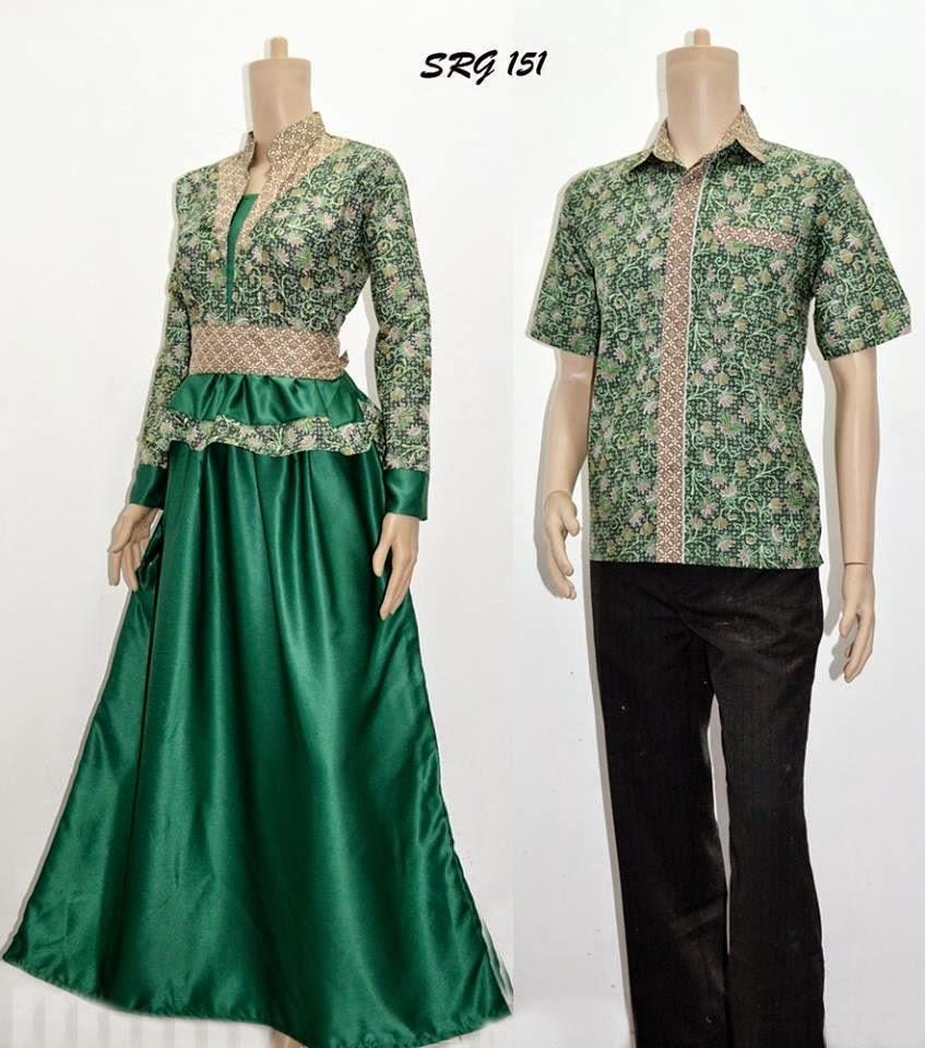 Contoh Gambar Baju Batik Modern: Model Desain Baju Batik Modern Terbaru [Model Couple]