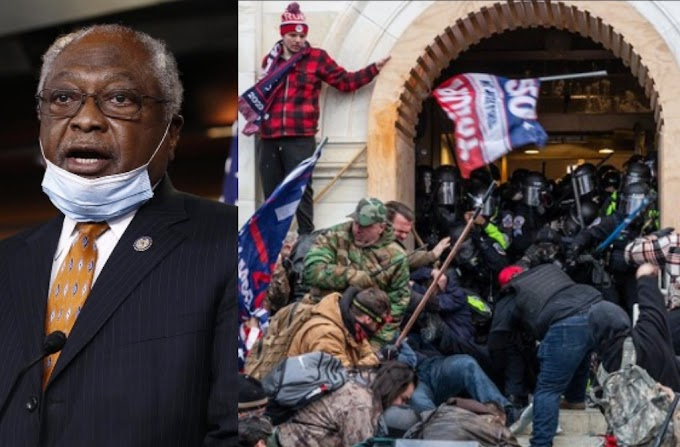 Rep. Jim Clyburn: angry rioters found his unmarked office ... More evidence of inside job