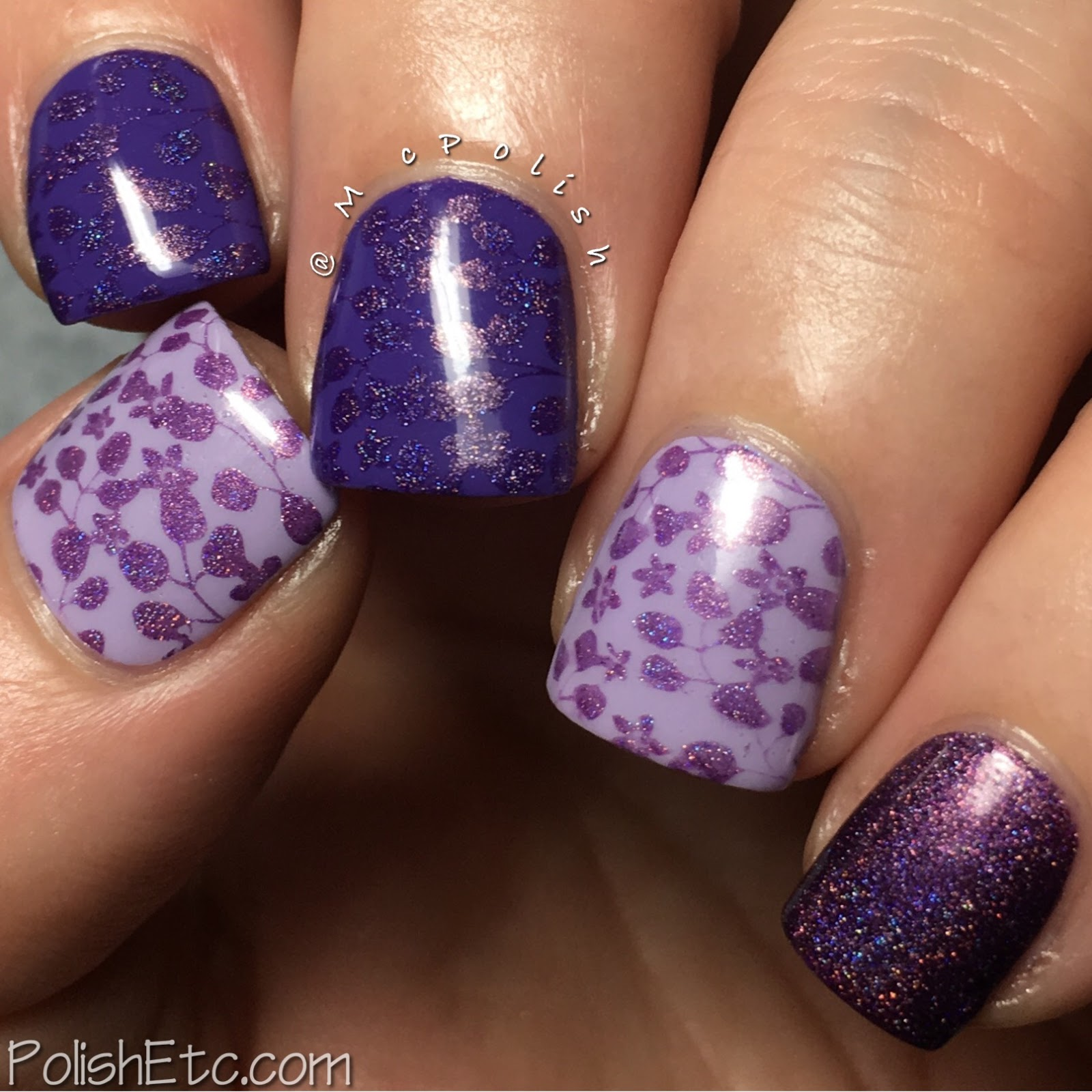 Celestial Cosmetics stamping polishes for Color4Nails - McPolish - Orchid
