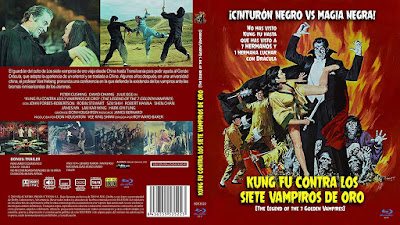 Carátula dvd: Kung Fu contra Los 7 Vampiros de Oro / The Legend of the 7 Golden Vampires