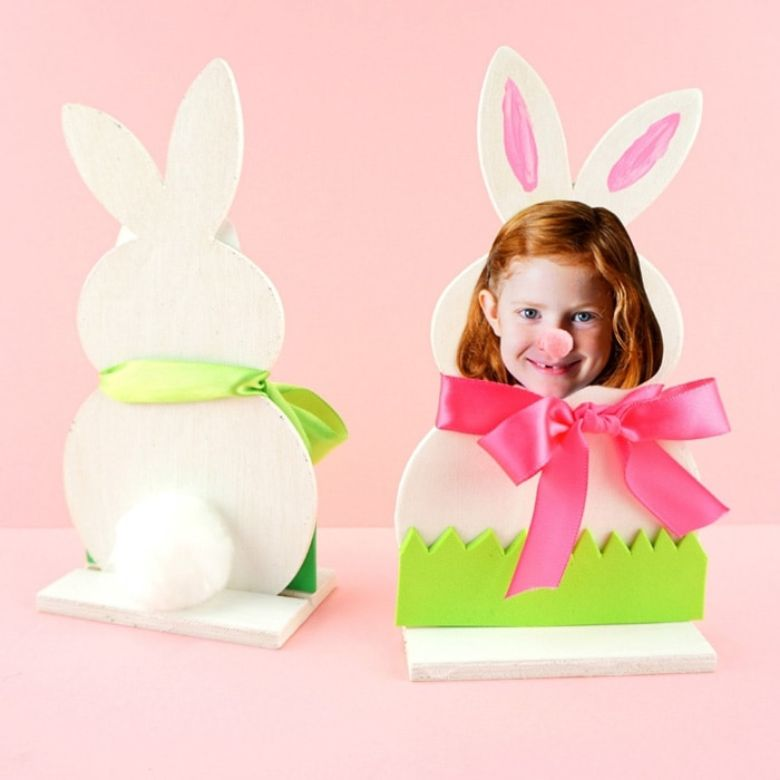 Easter crafts for toddlers - bunny photo craft