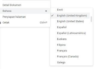 ubah bahasa untuk menampilkan fitur speech to text atau dikte atau mic