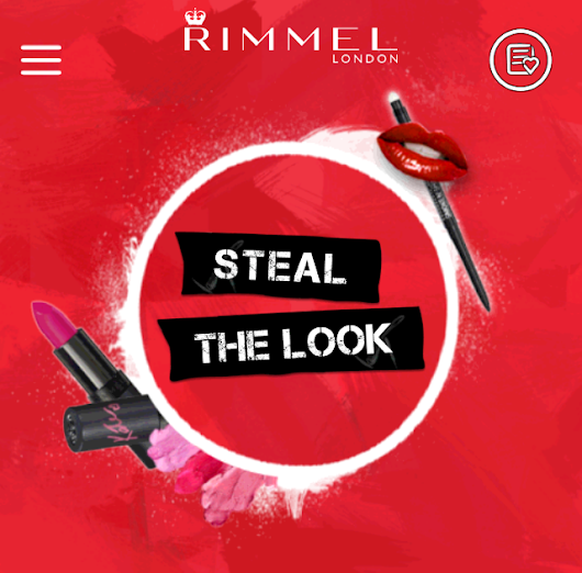 Rimmel Steal the Look App and Sweepstakes
