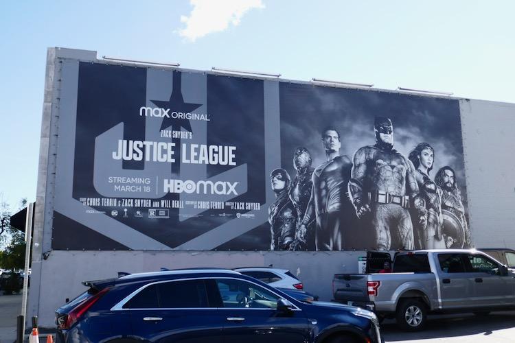 Zack Snyders Justice League billboard