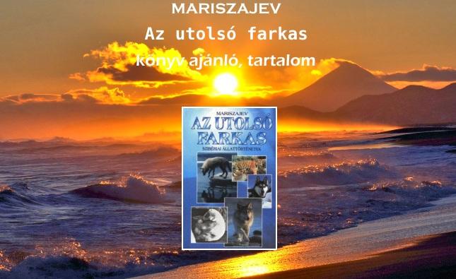 Mariszajev – Az utolsó farkas könyv ajánló, tartalom
