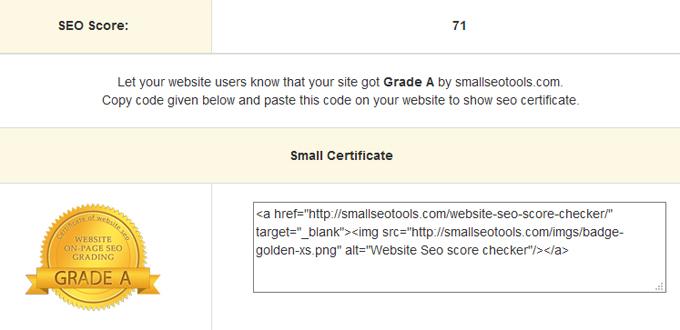 Blog Ini Score SEO Grade A