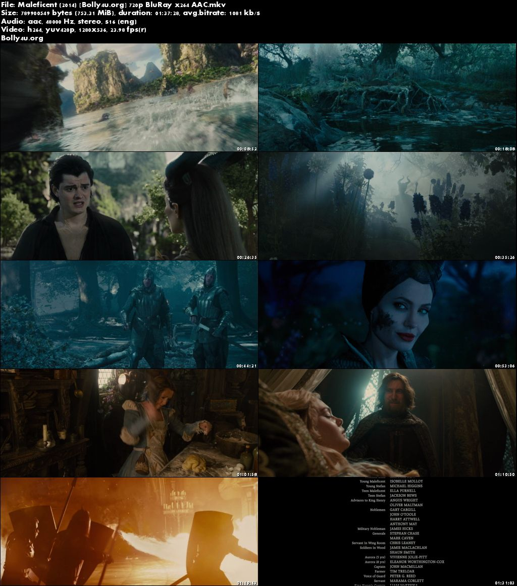 Maleficent 2014 BluRay 300Mb Full English Movie Download 480p