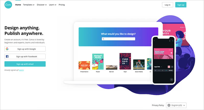 Canva is an intuitive web-based tool that you can use to design.