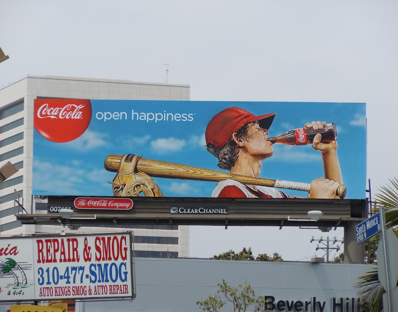 Coke baseball kid billboard