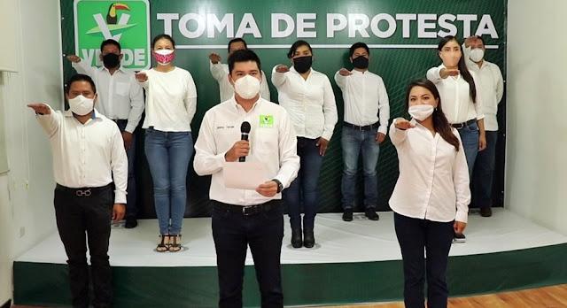 Asegura nueva dirigencia del Partido Verde en San Andrés Cholula que comenzaron los tiempos de cambio