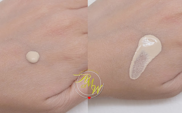a swatch photo of Make Up For Ever Water Blend Face and Body Foundation Review by Nikki Tiu of www.askmewhats.com