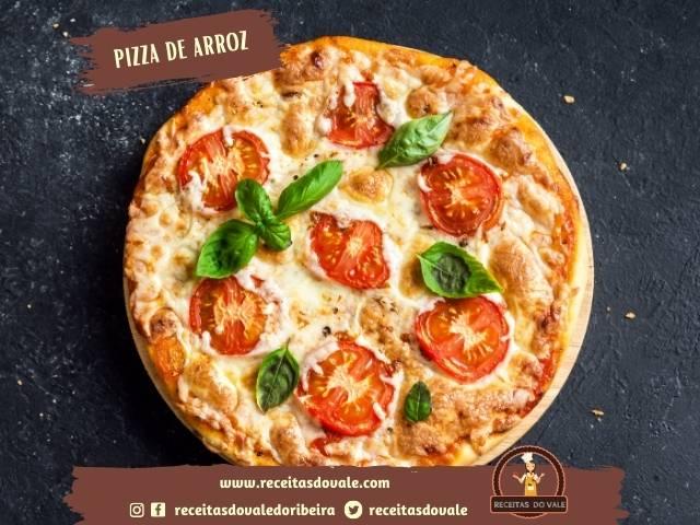 Receita de Pizza de Arroz