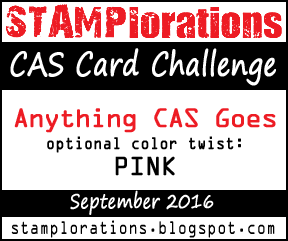 Stamplorations CAS card challenge - pink