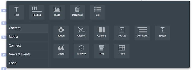 screenshot of the block palette