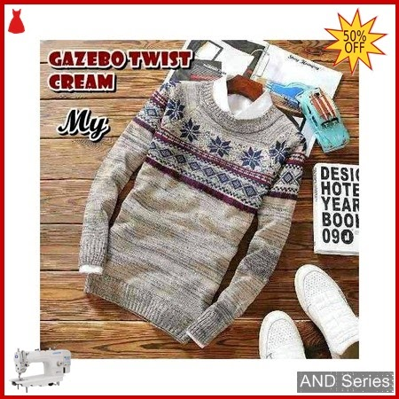 AND407 Sweater Pria Gazebo Twist Cream Tribal BMGShop