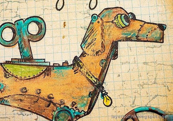 Layers of ink - Steampunk Dog Tutorial by Anna-Karin Evaldsson.