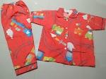 Jual Baju Tidur Anak Murah M 7-8 tahun Kereta Api Merah