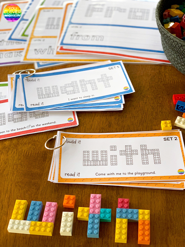 LEGO Sight Word Mats Dolch List | you clever monkey