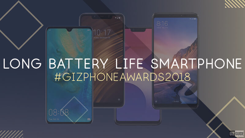 3. Long battery life smartphone of the year (No price limit)