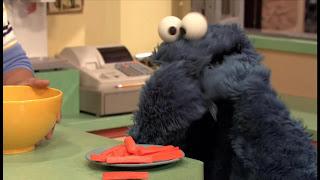 Sesame Street Episode 4305 Me Am What Me Am, Cookie Monster Veggie Monster