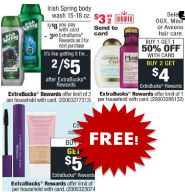 FREE Irish Spring & OGX CVS Deals
